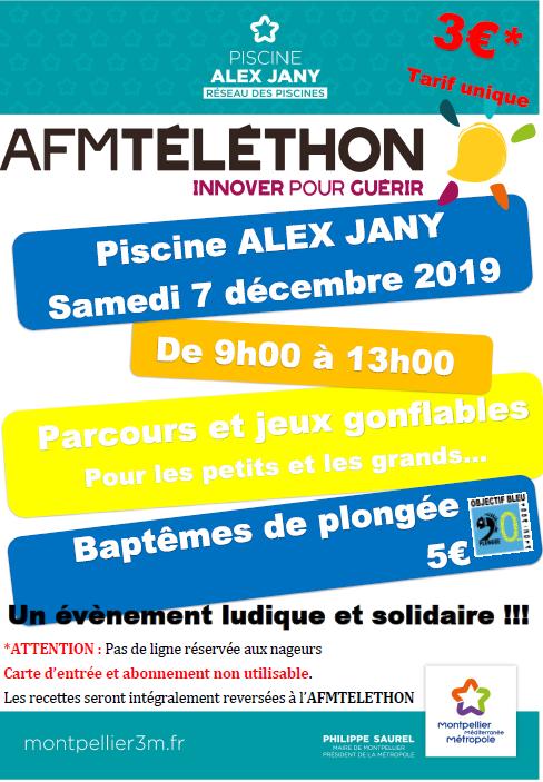 Téléthon 2019, samedi 07 décembre piscine Jany (Jacou)