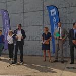 Inauguration des bornes pour véhicules électriques