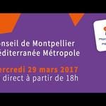 Embedded thumbnail for Conseil de Montpellier Méditerranée Métropole du 29 mars 2016