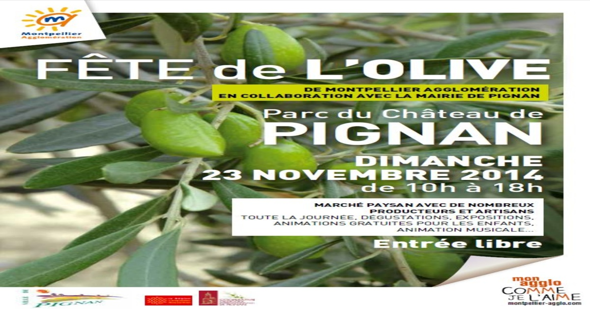F te de l 39 olive de montpellier agglom ration pignan for Maison de l agglomeration montpellier