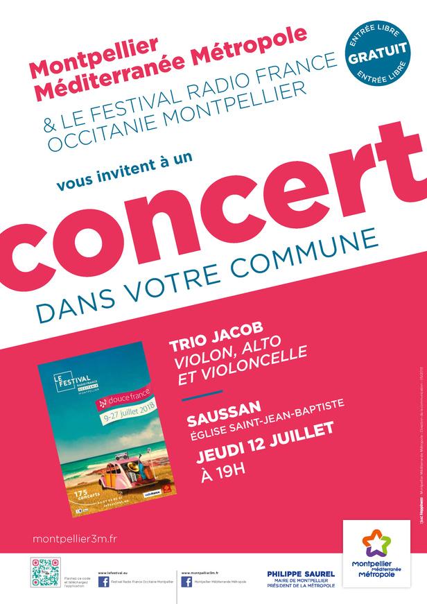 Festival Radio France Occitanie Montpellier   TRIO JACOB