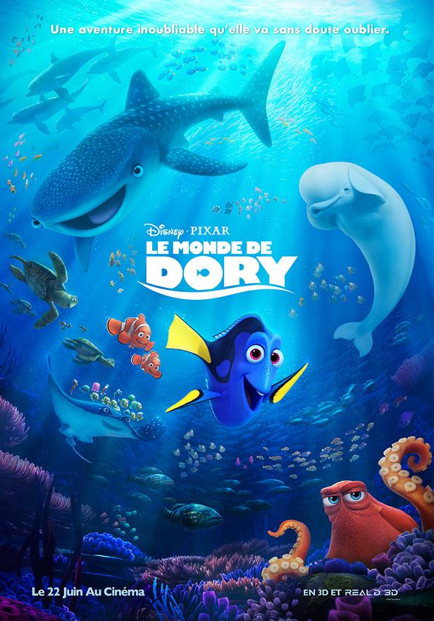 Affiche Le Monde de Dory