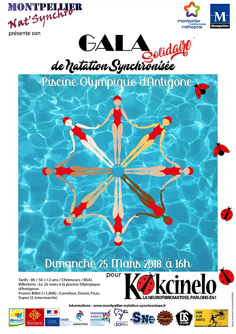 Affiche du gala solidaire de natation synchronisée